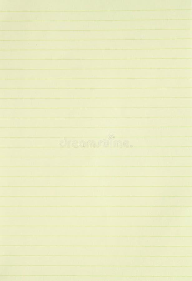 Pusty kolor żółty wykładający papierowy tło fotografia royalty free