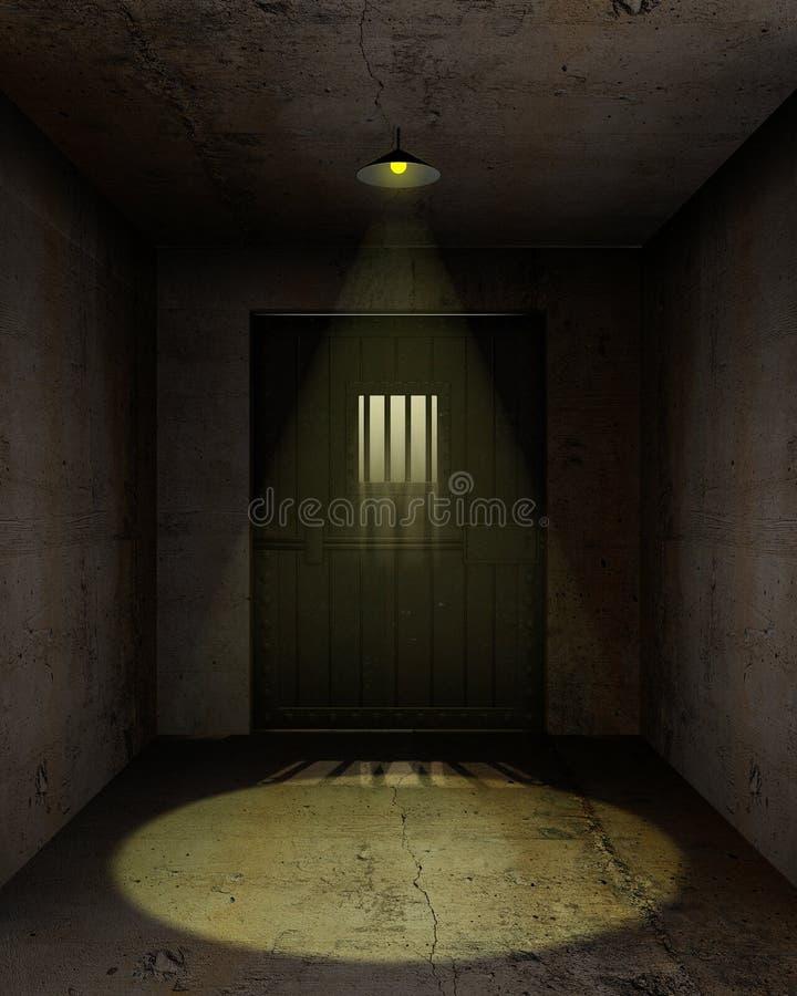 pusty komórki więzienie ilustracja wektor