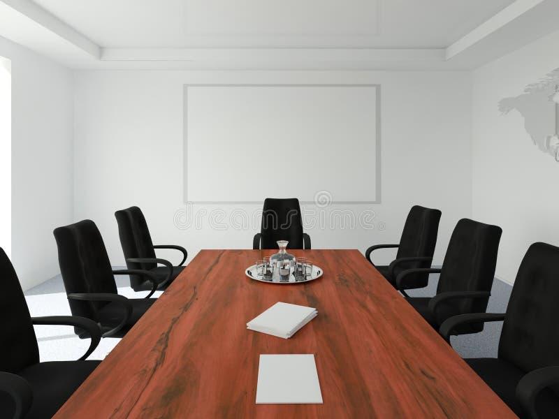 pusty konferencja pokój royalty ilustracja
