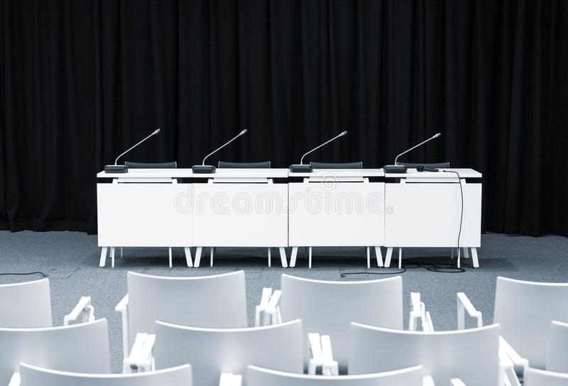 Pusty konferencja prasowa pokój zdjęcia royalty free