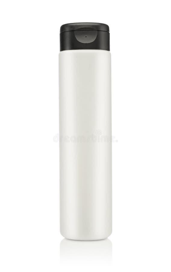 Pusty kosmetyczny produkt odizolowywający nad bielem zdjęcia stock