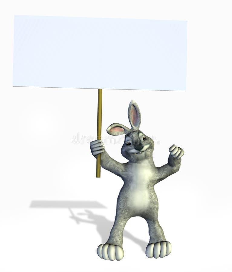 pusty królika ścinku ścieżki znak gospodarstwa royalty ilustracja