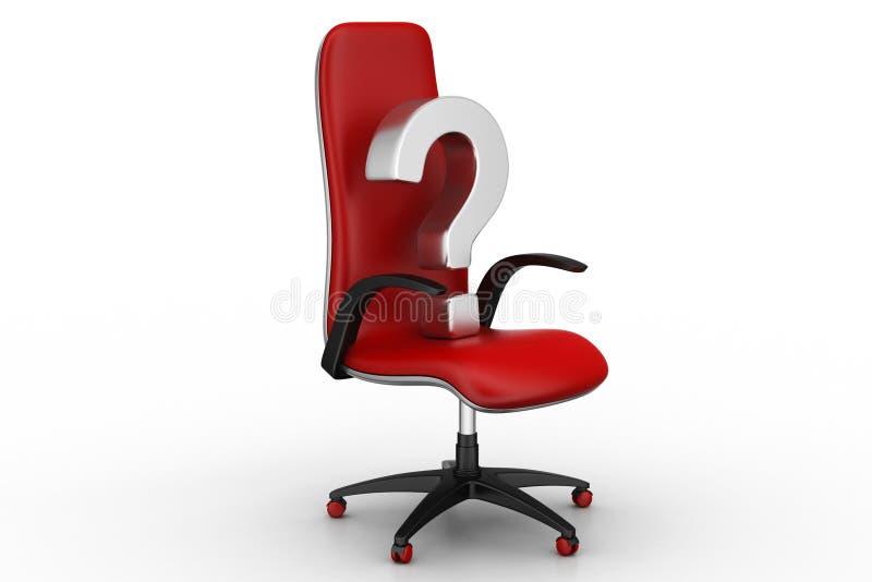 Pusty krzesło z znakiem zapytania ilustracji