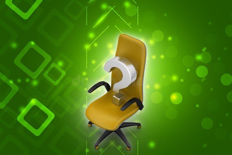 Pusty krzesło z znakiem zapytania ilustracja wektor