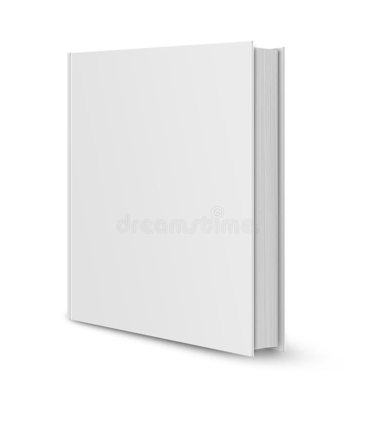 pusty książkowej pokrywy biel ilustracja wektor