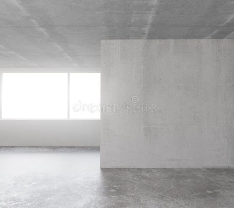 Download Pusty Loft Pokój Z Betonową Podłoga, Sufit I Betonowy Wal Ilustracji - Ilustracja złożonej z muzeum, nieruchomości: 65225384