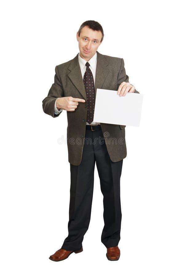 pusty mężczyzna papieru prześcieradło obrazy royalty free