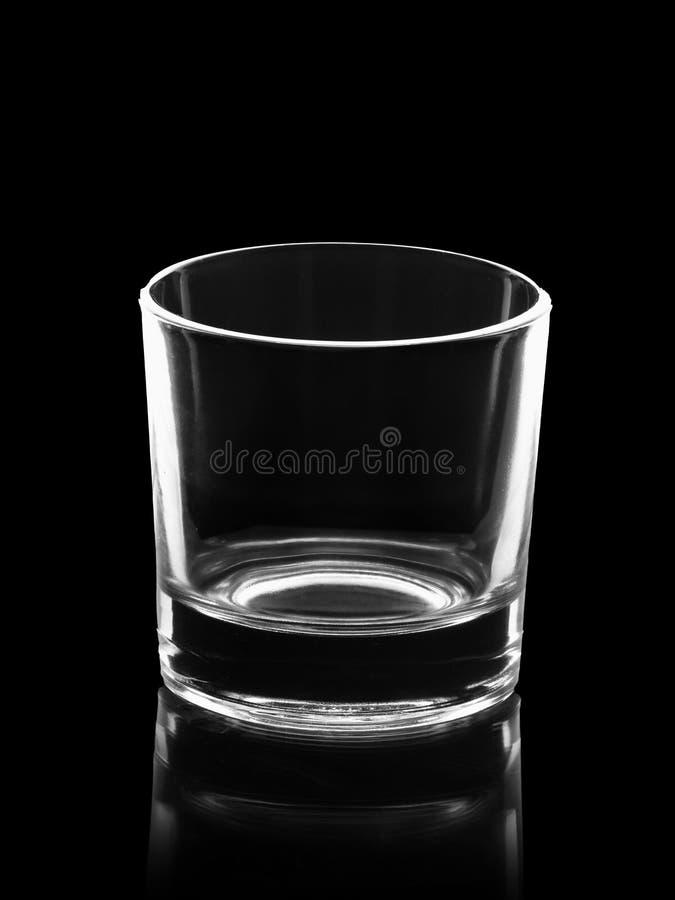 Pusty mały strzału szkło odizolowywający na czerni zdjęcia royalty free