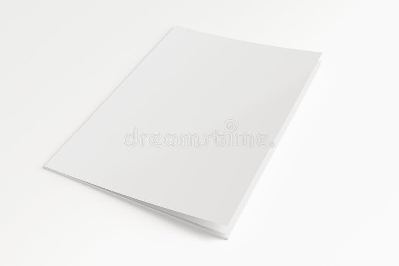 Pusty magazyn odizolowywający na bielu royalty ilustracja