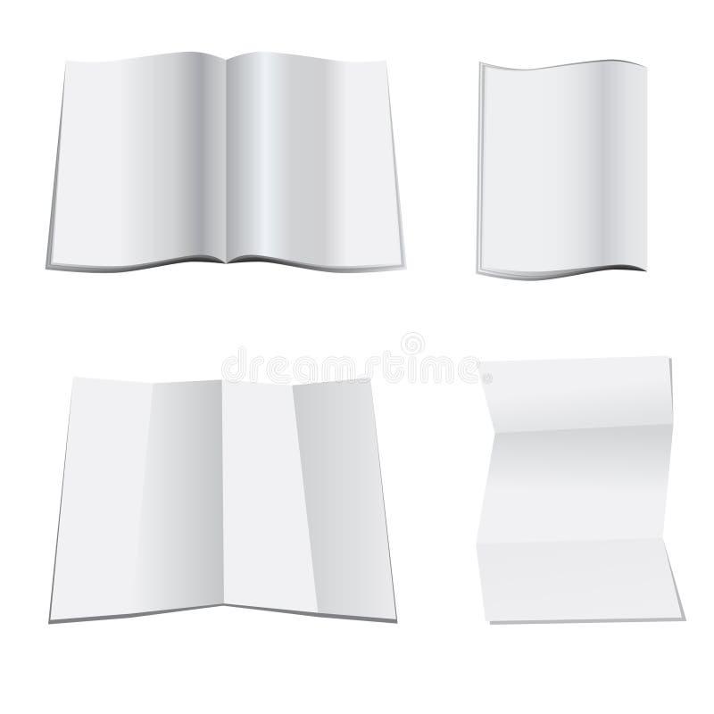 pusty magazynu papieru biel royalty ilustracja