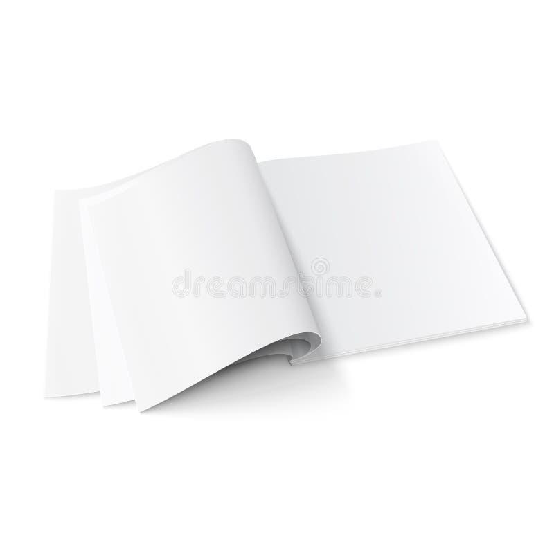 Pusty magazynu szablon z miękkimi cieniami. royalty ilustracja