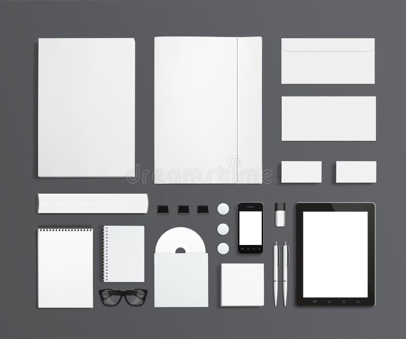 Pusty materiały i Korporacyjny ID szablon ilustracja wektor