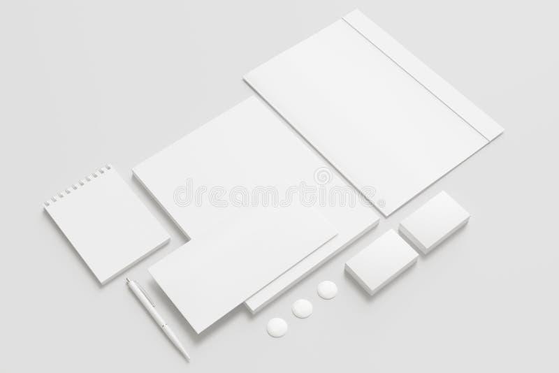 Pusty materiały, Korporacyjny ID set/ royalty ilustracja