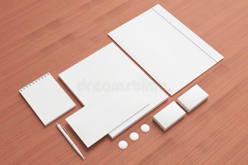 Pusty materiały, Korporacyjny ID set/ ilustracji