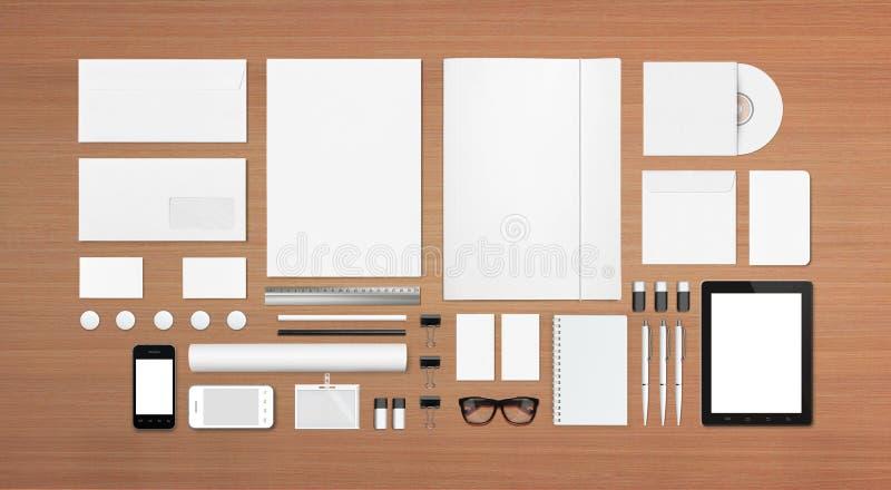 Pusty materiały, Korporacyjny ID szablon/ ilustracji