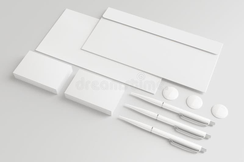 Pusty materiały, Korporacyjny ID/Ustawiamy odosobnionego na bielu ilustracja wektor