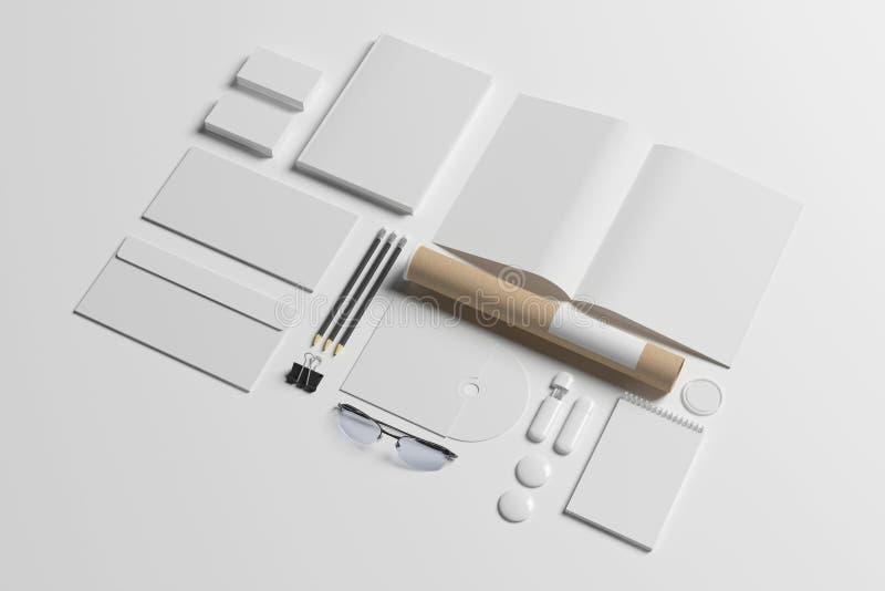 Pusty materiały set ilustracja wektor