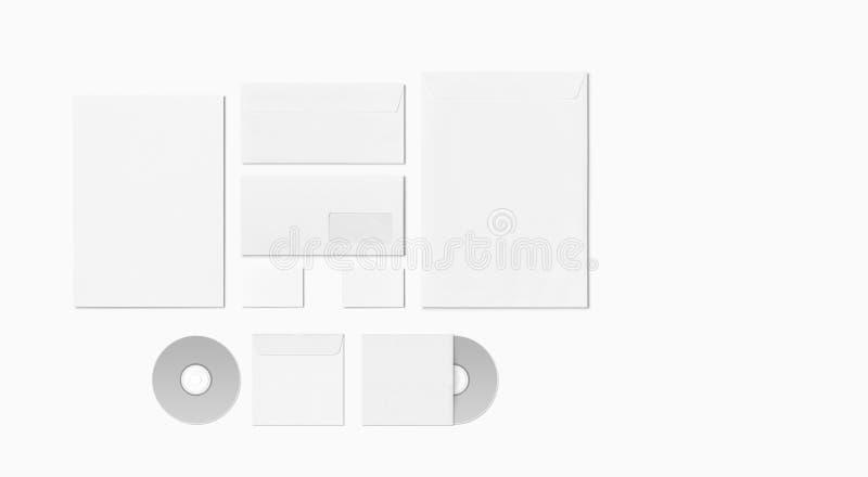 Pusty materiały Ustawiający odizolowywającym na bielu fotografia royalty free