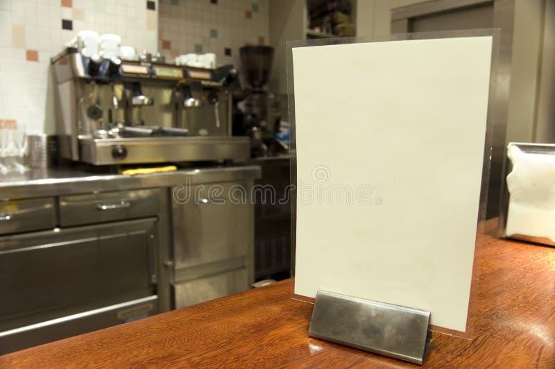 pusty menu baru zdjęcie stock