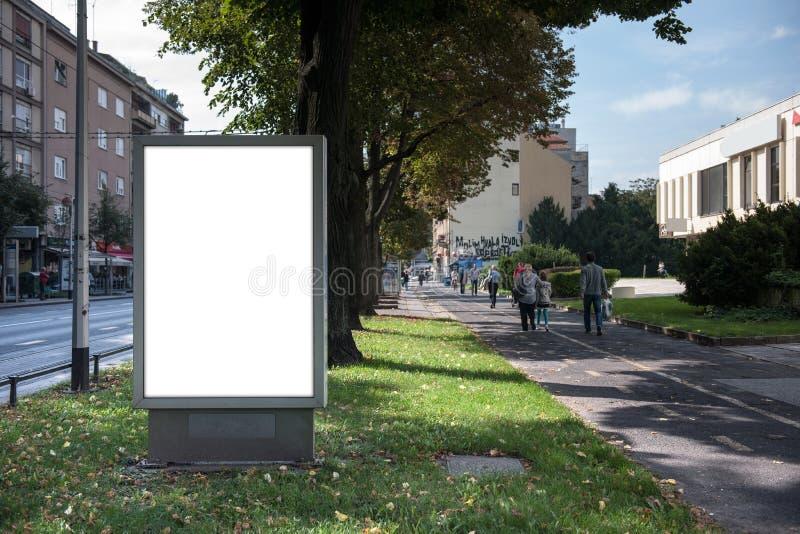 Pusty miasta światła miejsce dla twój reklamy zdjęcie royalty free