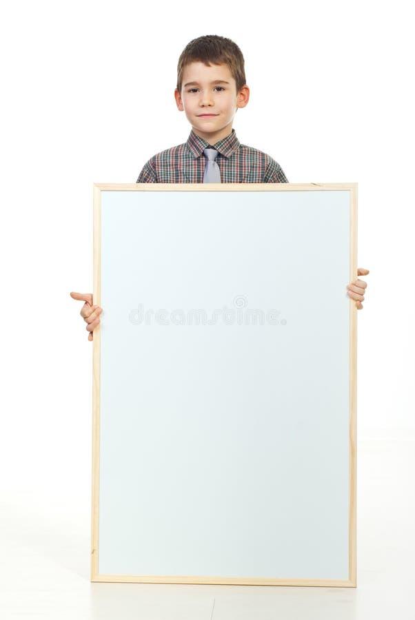 pusty mienia plakata preschooler obraz stock