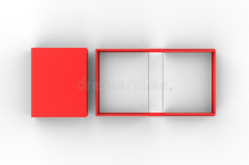 Pusty milczek skorupy pudełko dla oznakować egzamin próbnego w górę ilustracja 3 d, ilustracji