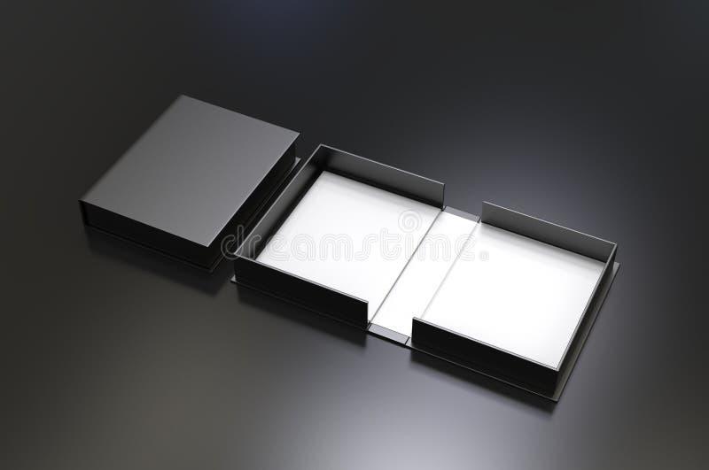 Pusty milczek skorupy pudełko dla oznakować egzamin próbnego w górę ilustracja 3 d, ilustracja wektor