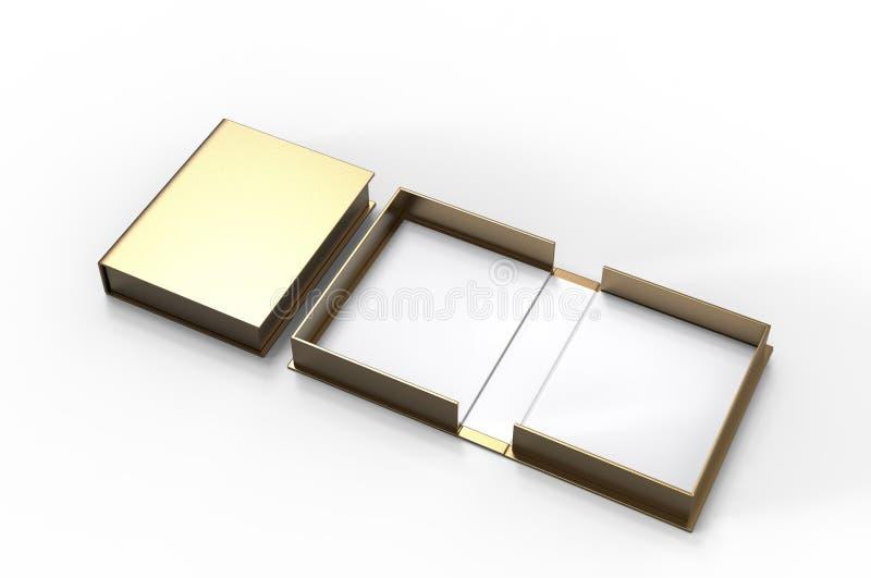 Pusty milczek skorupy pudełko dla oznakować egzamin próbnego w górę ilustracja 3 d, royalty ilustracja
