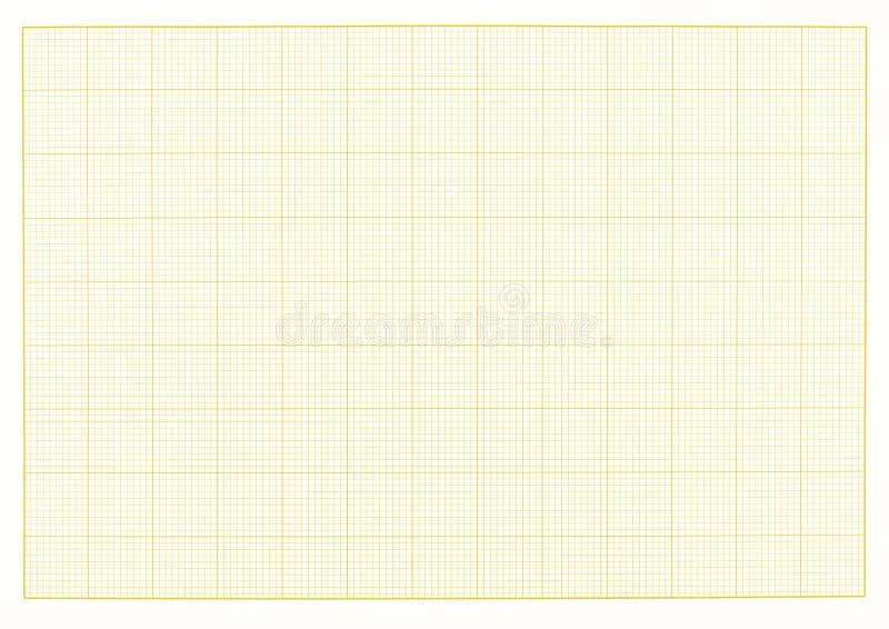 Pusty milimetrowy siatka koloru żółtego papieru prześcieradła tło lub textured obrazy royalty free