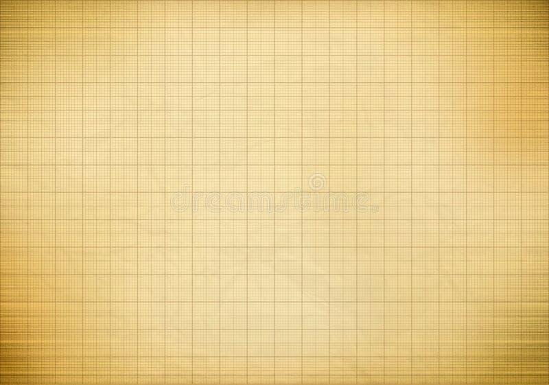 Pusty milimetrowy stary wykresu papier zdjęcia stock