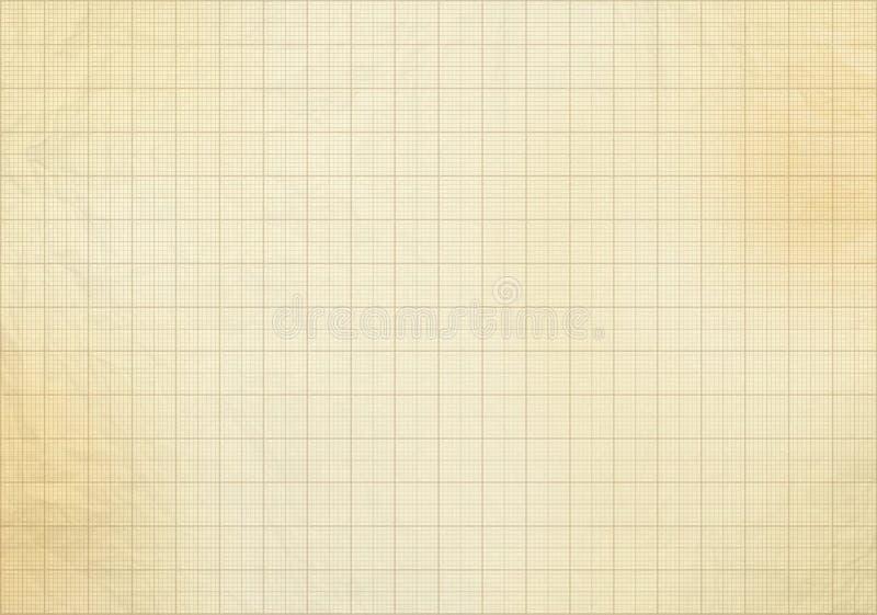 Pusty milimetrowy stary wykresu papier ilustracja wektor