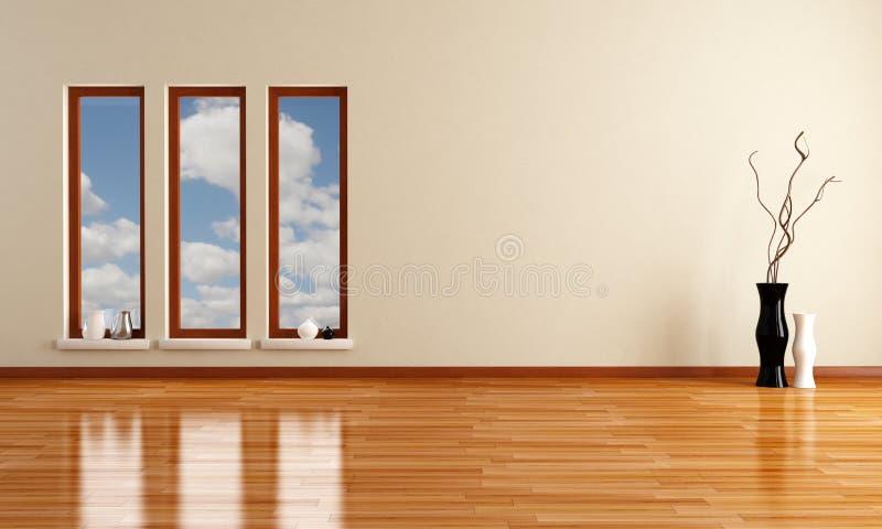 pusty minimalistyczny pokój royalty ilustracja