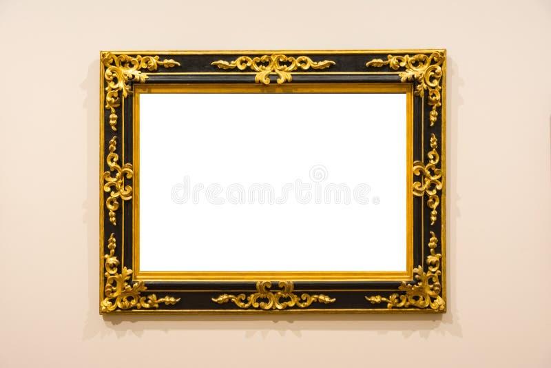 Pusty muzeum sztuki Odizolowywająca obraz ramy dekoracja Indoors Izoluje zdjęcie royalty free