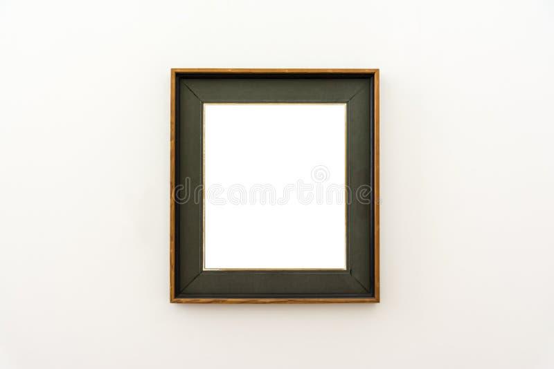 Pusty muzeum sztuki Odizolowywająca obraz ramy dekoracja Indoors Izoluje fotografia royalty free