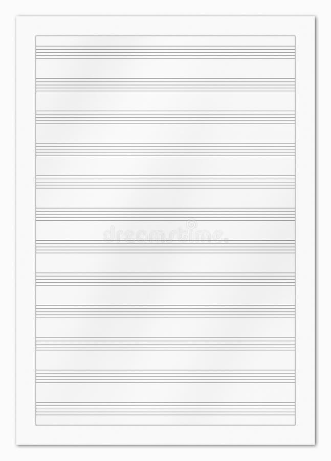 Pusty muzyczny papier zdjęcia royalty free