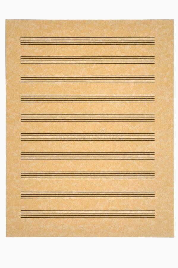 pusty muzykę pergaminu arkusza papieru fotografia stock