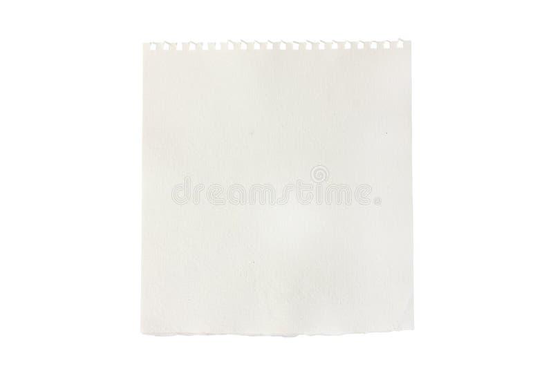 pusty notatnika papieru kawałka sketchbook drzejący zdjęcia stock
