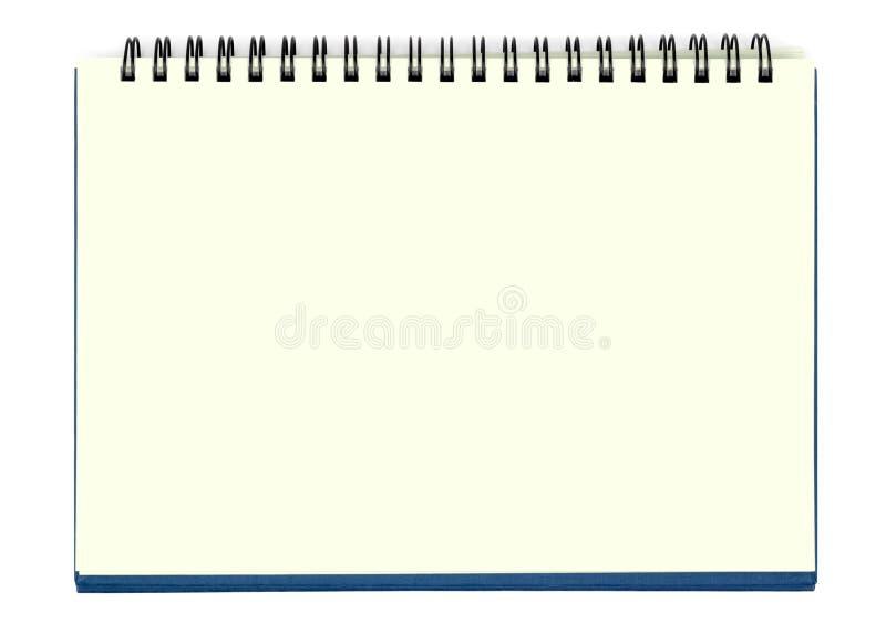 pusty notatnika prześcieradła kolor żółty obraz royalty free
