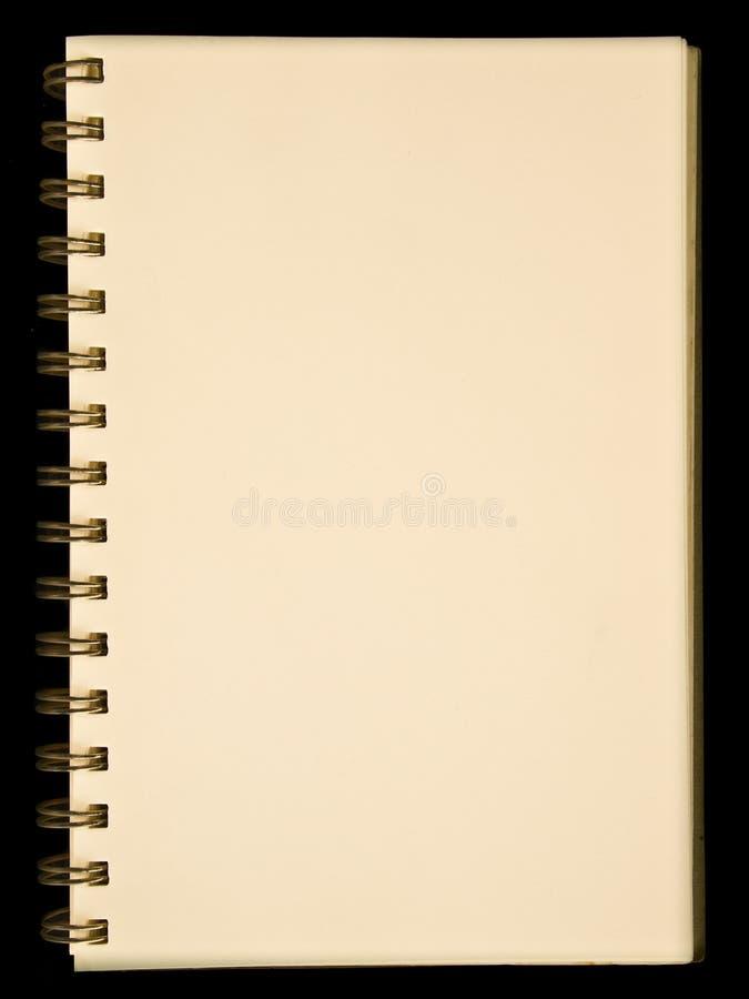 pusty notatnika strony kolor żółty zdjęcie royalty free