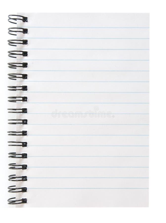 pusty notepad fotografia stock