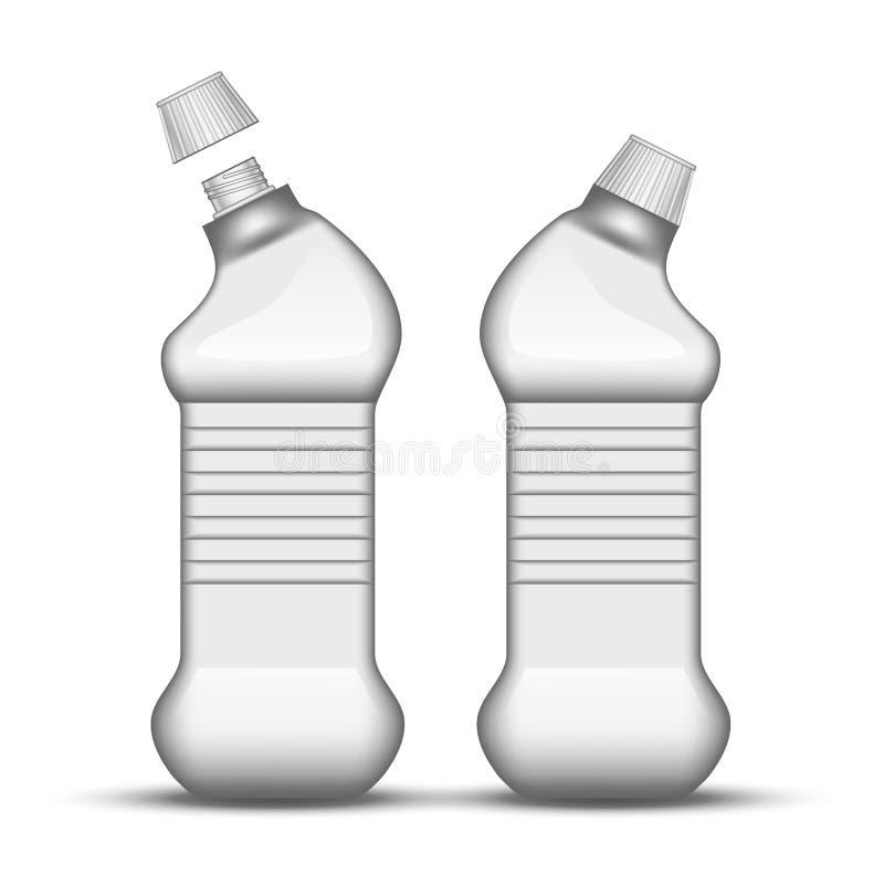 Pusty Ogólnoludzki Czysty Plastikowy butelka wektor ilustracja wektor