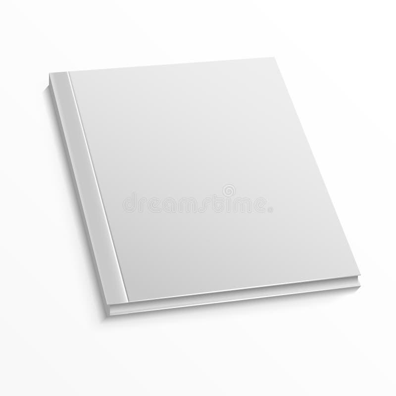 Pusty okładka magazynu szablon na białym tle Wektoru egzamin próbny up ilustracji