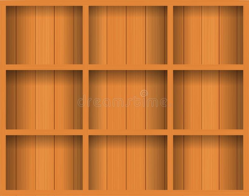 pusty półki wektoru drewno ilustracji