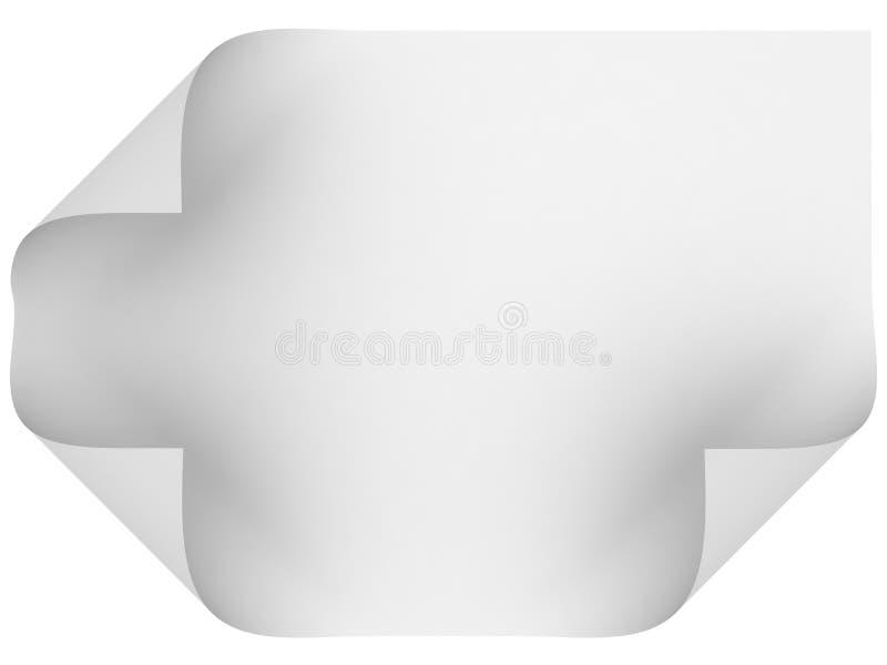 Download Pusty papier ilustracji. Ilustracja złożonej z kąt, odosobniony - 13328112