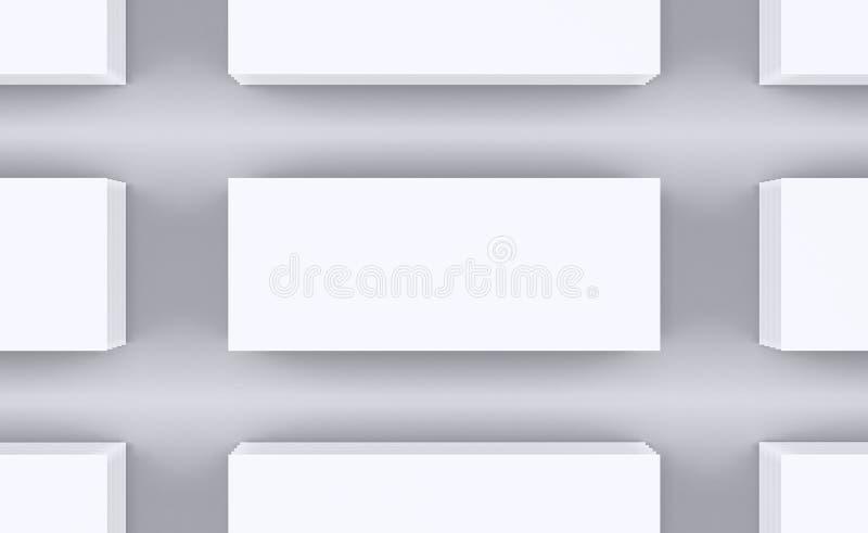 pusty papier ciąć na arkusze biel royalty ilustracja