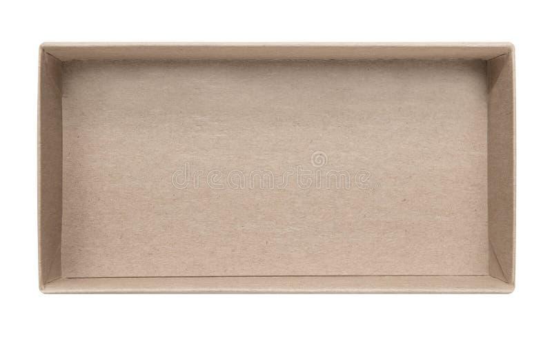 Pusty papierowy pudełko zdjęcie stock