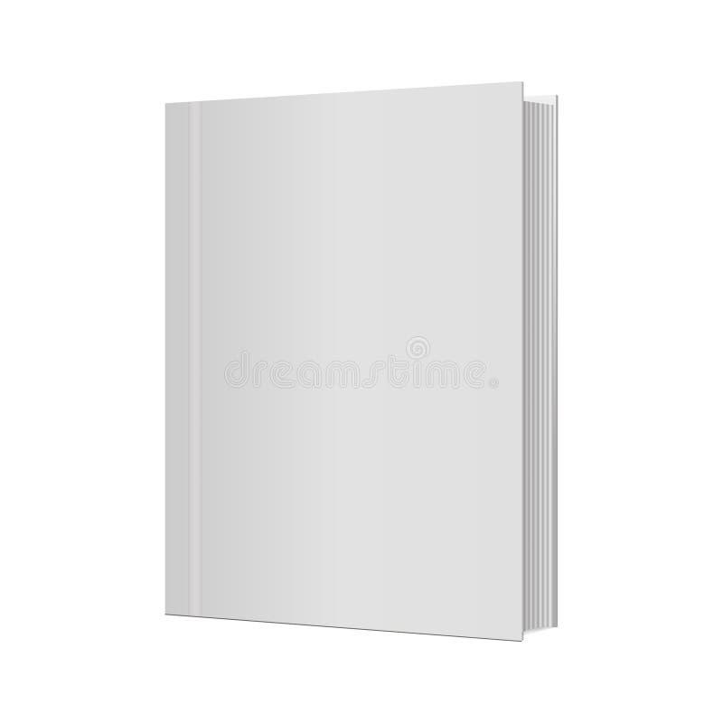 Pusty pionowo książkowy okładkowy szablon z stronami również zwrócić corel ilustracji wektora ilustracji