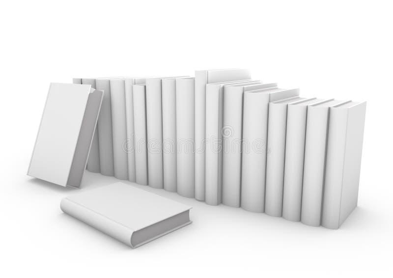 Pusty pionowo książkowy okładkowy szablon z stronami stoi na biel powierzchni ilustracji