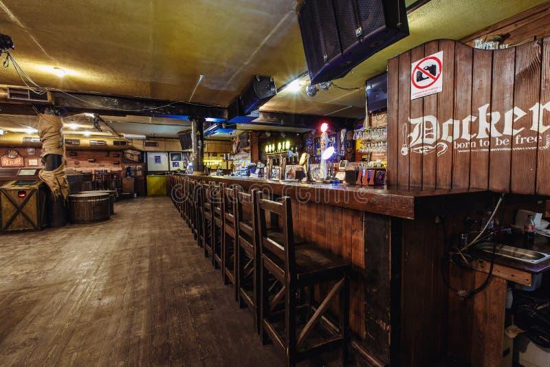 Pusty piwny pub obraz stock