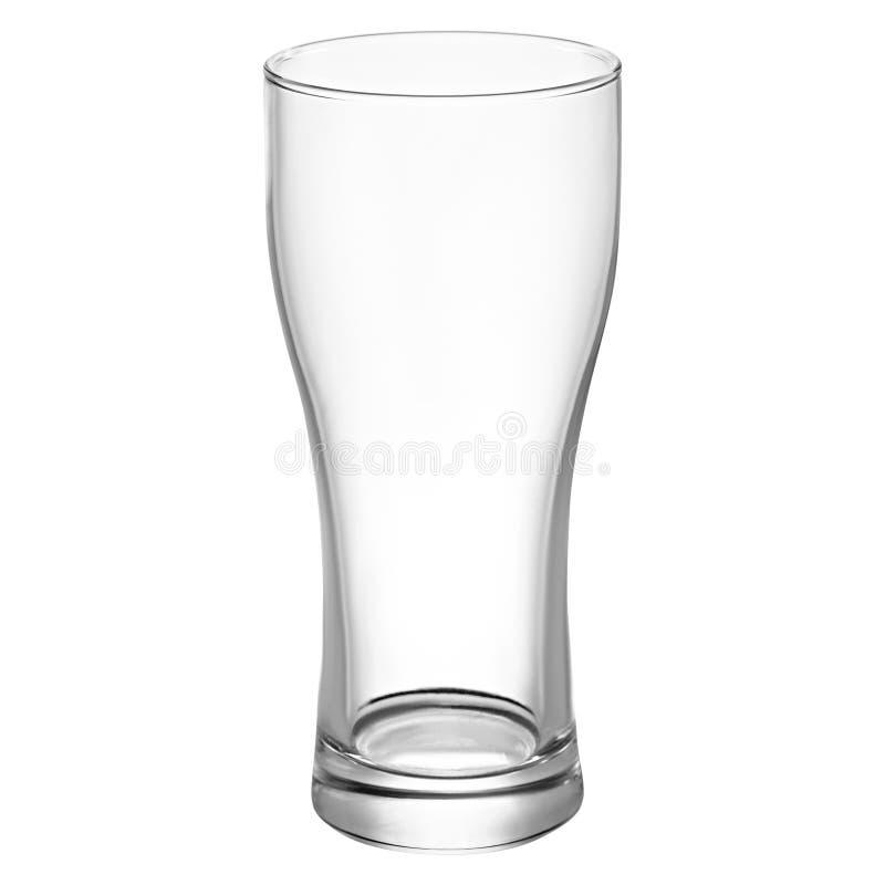Pusty piwny szkło dla piwa fotografia stock